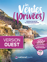 Ouvrir la brochure flash Les Ventes Privées Nationaltours (Version Ouest)